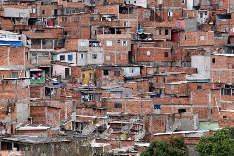 Slamsy, ubóstwo w sąsiedztwie Sao Paulo fotografia stock