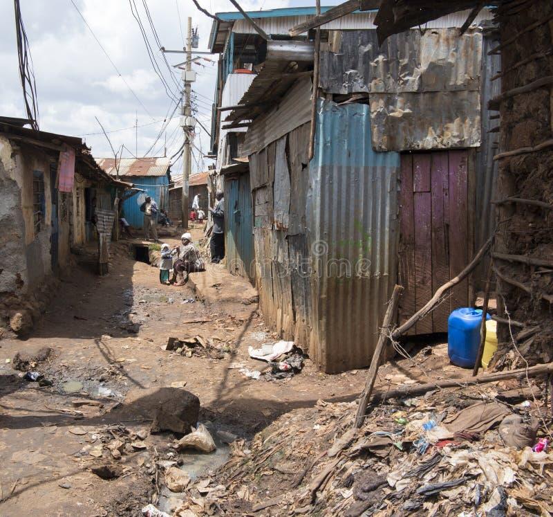 Slamsy w Kenja obraz royalty free