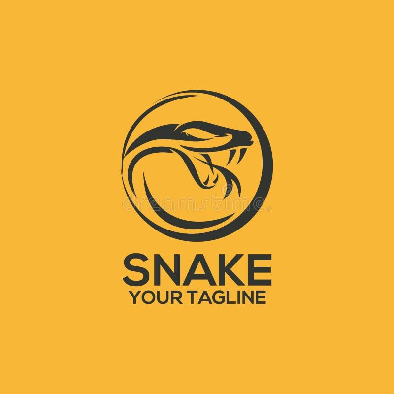 Slangembleem Vectorart logo template en Illustratie vector illustratie