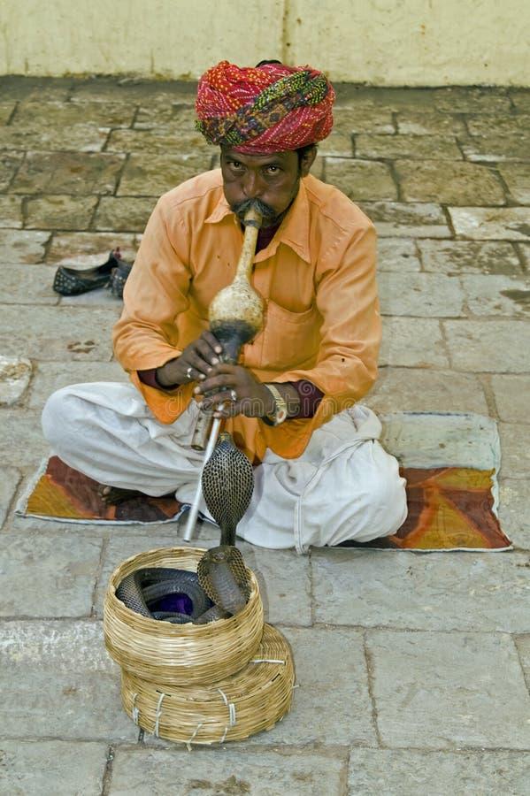Slangenbezweerder royalty-vrije stock foto