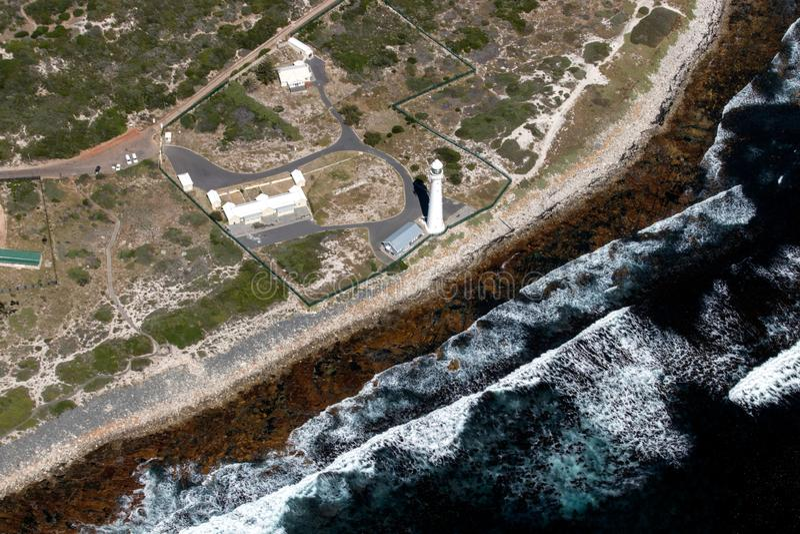 Slangkop latarni morskiej południe Africa zdjęcia stock