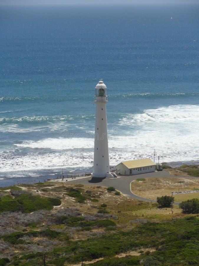 Slangkop Leuchtturm- oder Kommetjie-Leuchtturm lizenzfreie stockbilder