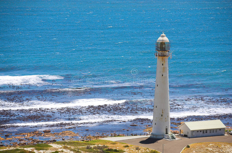 The Slangkop Lighthouse. At Kommetjie, Western Cape. The tallest lighthouse in South Africa stock photos