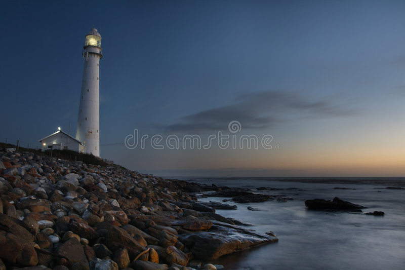 Slangkop lighthouse. The Slangkop lighthouse at Kommetjie near Cape Town South Africa royalty free stock photography