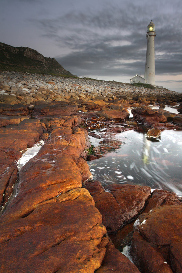 Slangkop Lighthouse. The Slangkop lighthouse at Kommetjie near Cape Town South Africa stock image