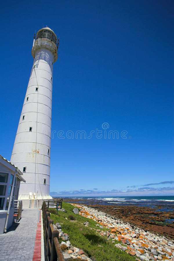 The Slangkop Lighthouse at Kommetjie, Western Cape royalty free stock photos