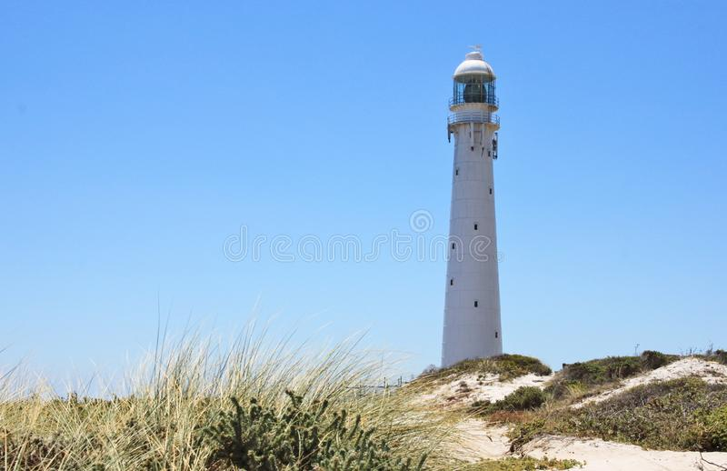 Slangkop Point lighthouse. Cape Town, South Africa royalty free stock images