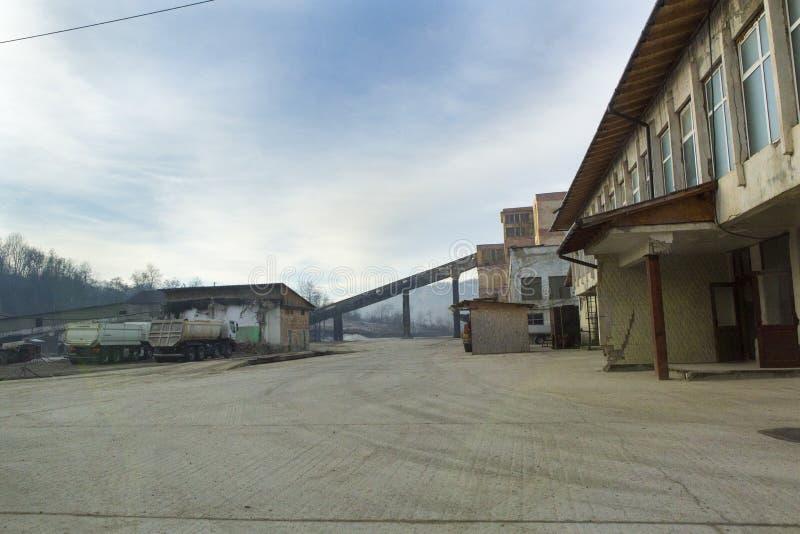 Slanic Prahova soli niecka - ruiny zdjęcie stock