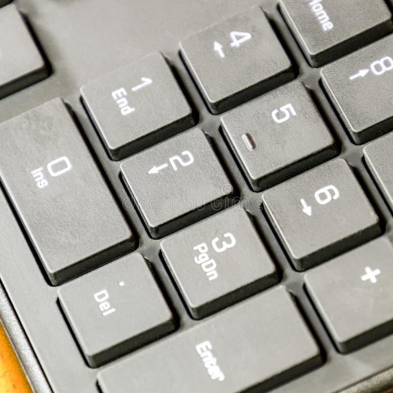 Slank tangentborddator för svart En perifer förlaga arkivbild