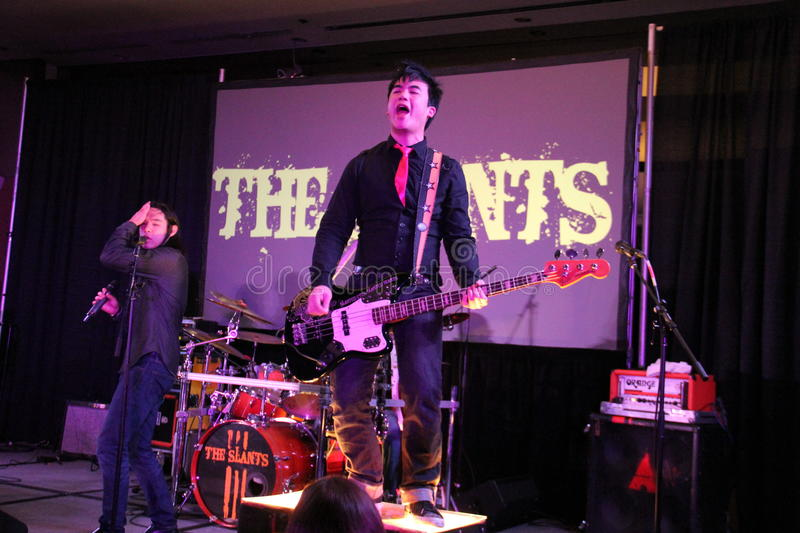 The Slants stock images
