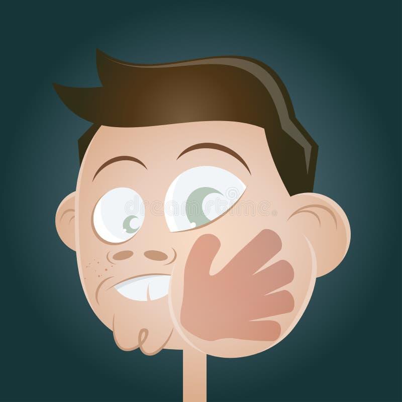 Slap in the face stock illustration