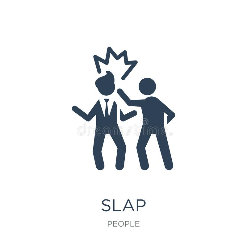 slap icon in trendy design style. slap icon isolated on white background. slap vector icon simple and modern flat symbol for web stock illustration