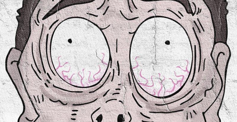 Slapeloosheidsgezicht vector illustratie