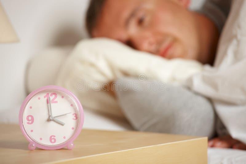 Slapelooze mens stock fotografie