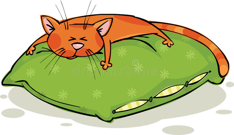 Slaperige kat stock illustratie