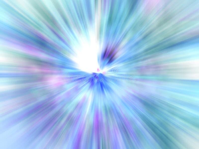 slapp blå explosion arkivbilder