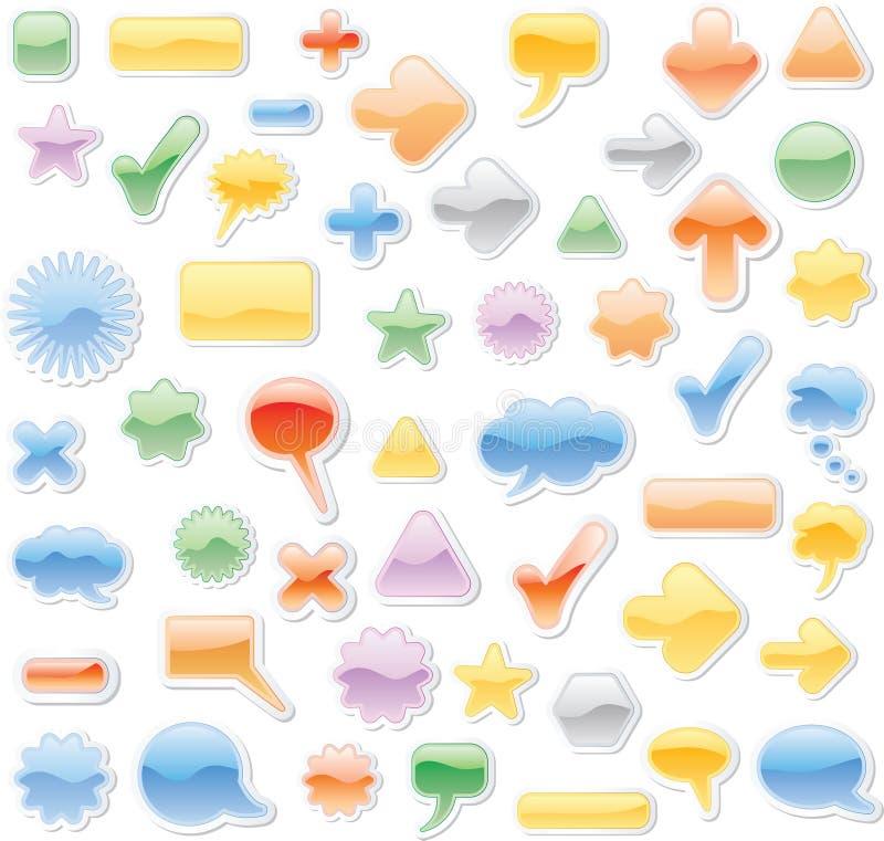 slappa oklarheter vektor illustrationer