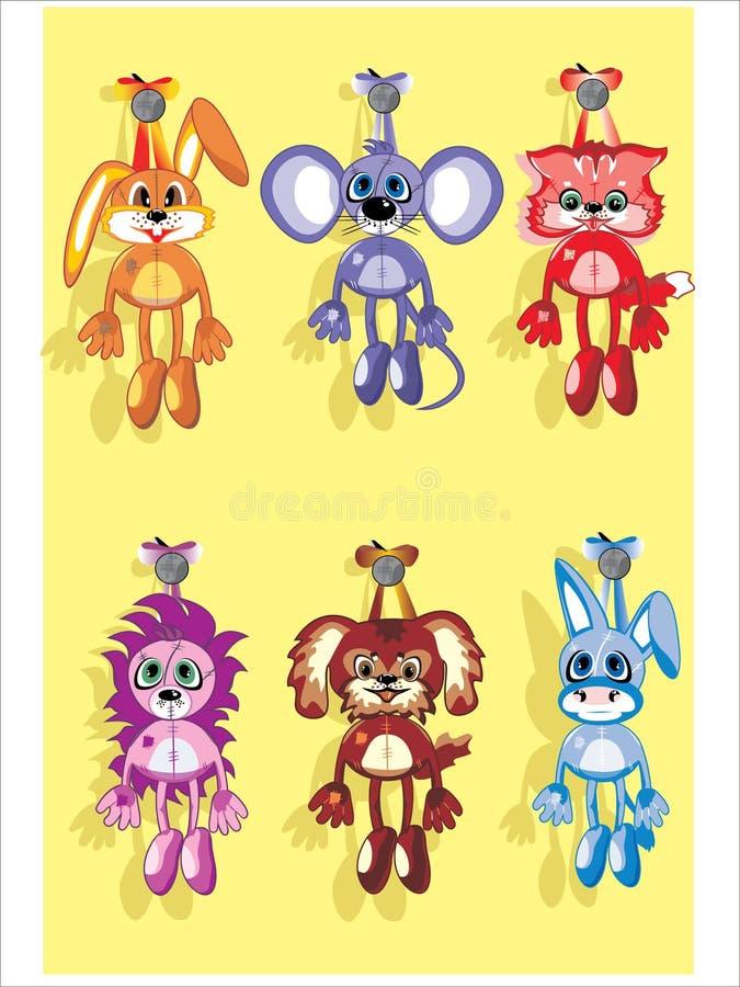 slappa toys royaltyfri illustrationer