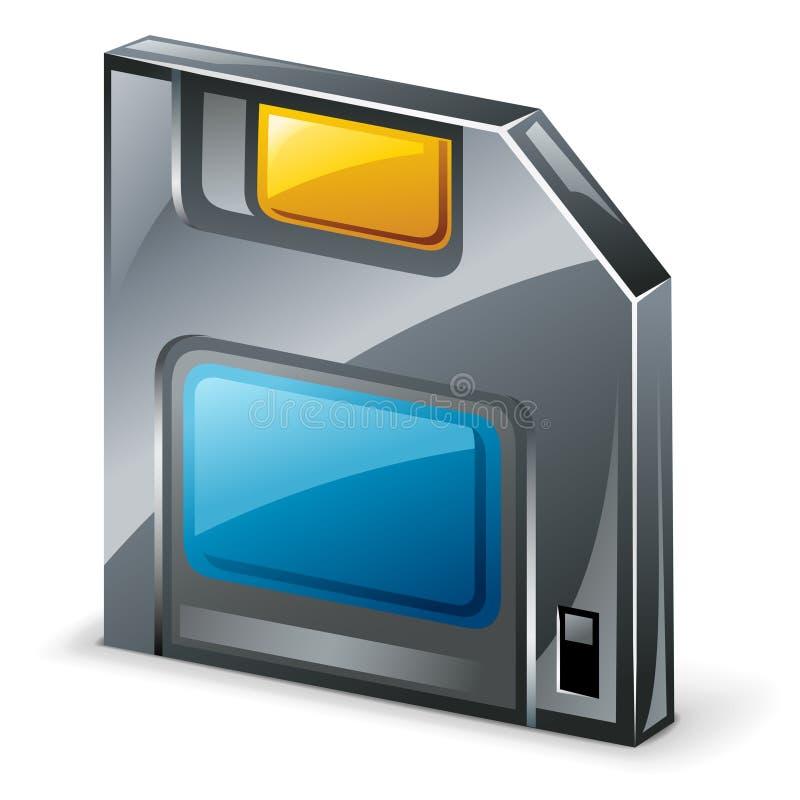 Slappe diskette stock illustratie