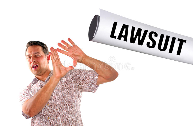 Slapped with lawsuit stock images