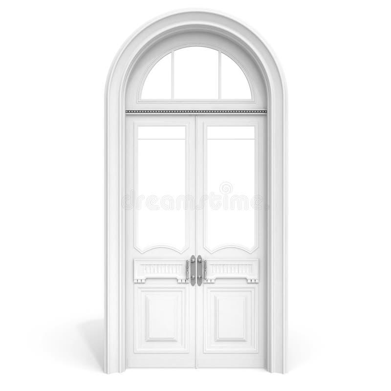 slappt vitt trä för dörrskugga royaltyfri illustrationer