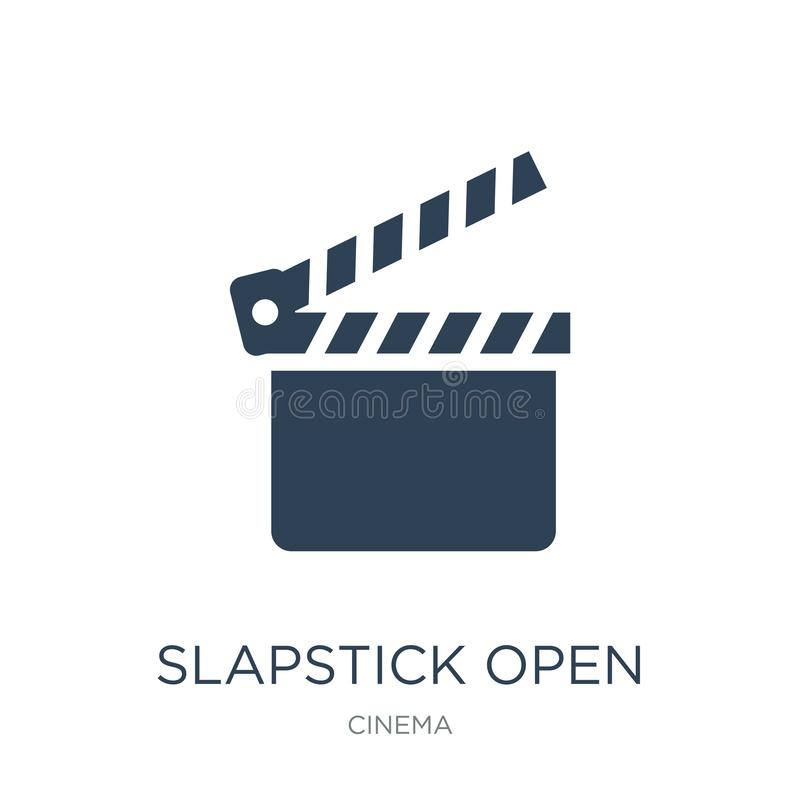 Slapstick open icon in trendy design style. slapstick open icon isolated on white background. slapstick open vector icon simple. And modern flat symbol for web vector illustration