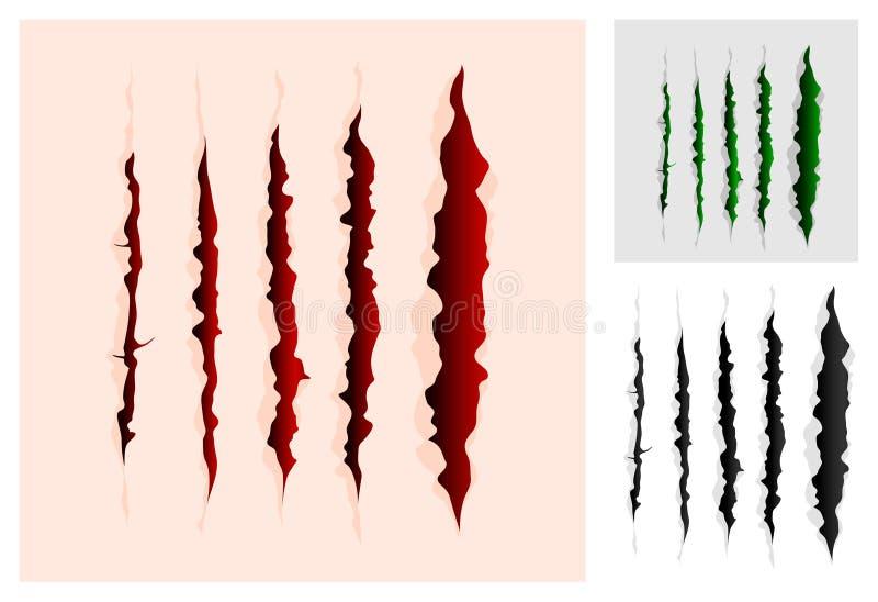 Slashes samlingen vektor illustrationer