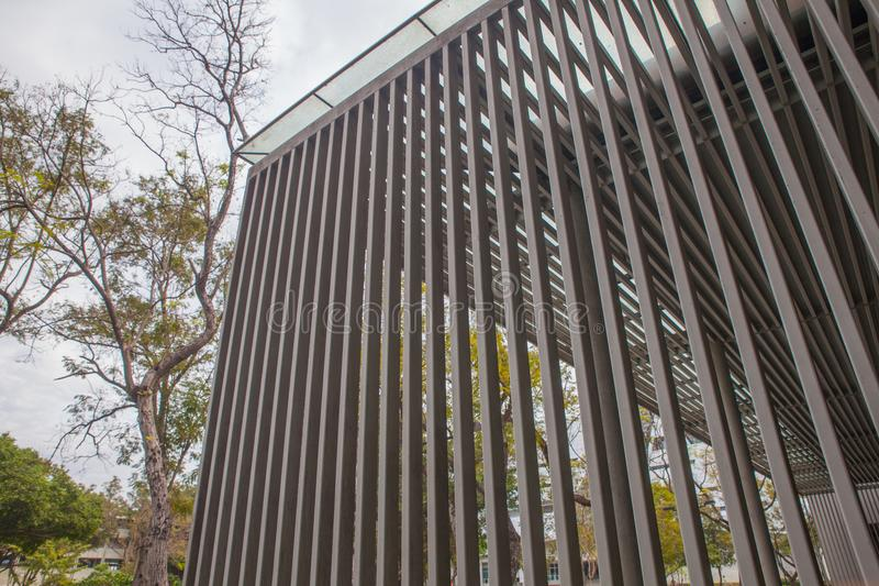 Slat of the modern building. At thailand stock photos