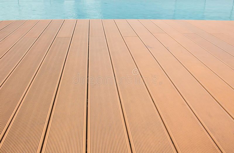 Slat of the pool. Slat floor of the pool is a long stretch stock image