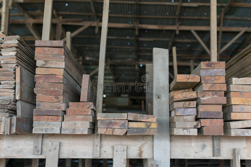 Slat and Timber wood for construction stock images