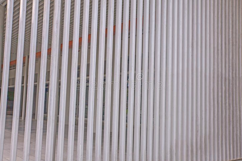 Slat wall of the modern building royalty free stock photography