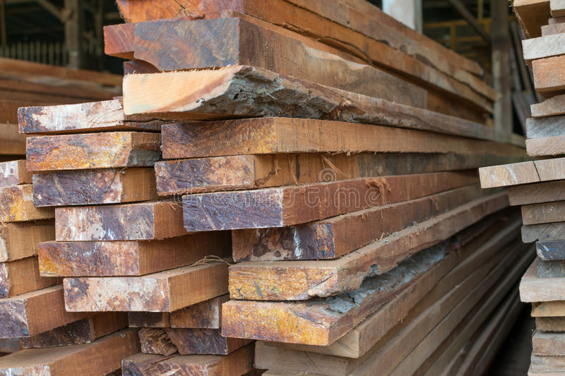 Slat wood for construction stock photography