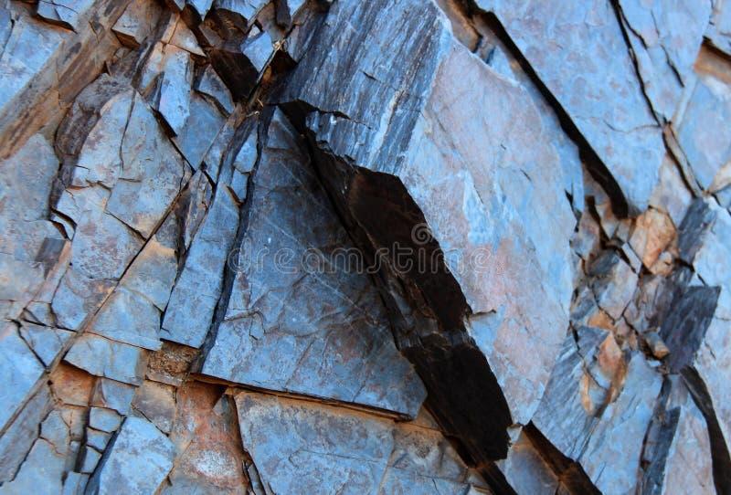 Slate. Blue slate texture on an angle stock photo