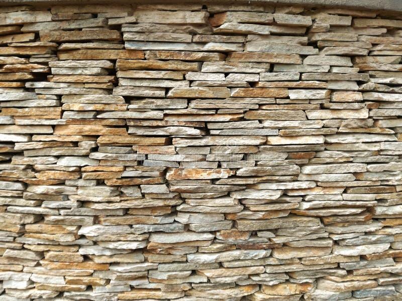 Slate Brick Wall royalty free stock photography