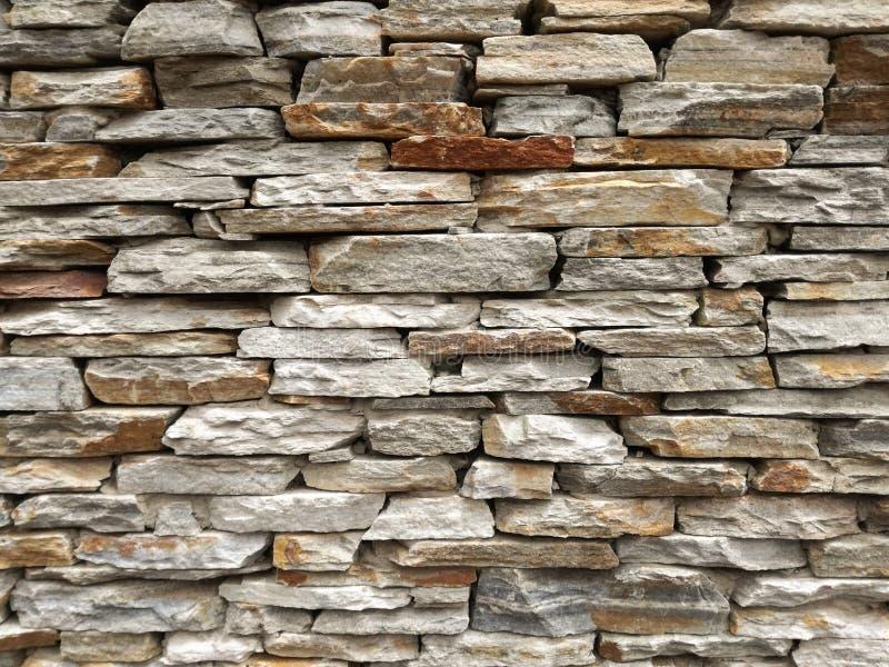 Slate Brick Wall royalty free stock image
