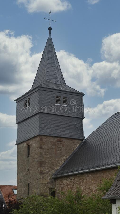 Slate Church Tower royalty-vrije stock foto's