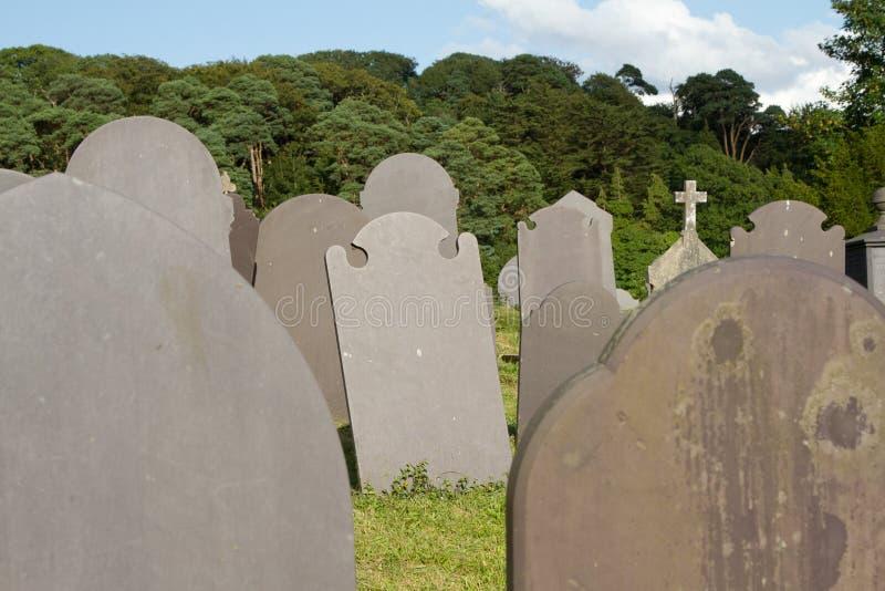 Download Slate gravestones. stock image. Image of cloud, graveyard - 26156271