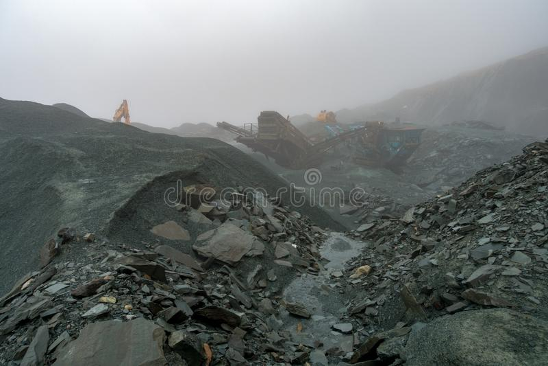 Slate Mining Lake District royalty free stock image