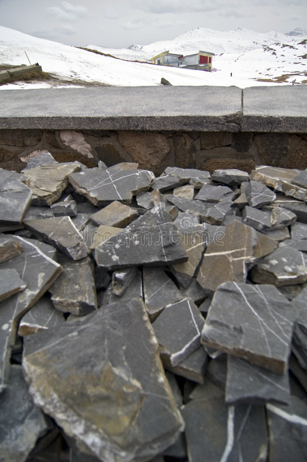 Download Slate Rock Pile On Mountain Royalty Free Stock Images - Image: 4900809