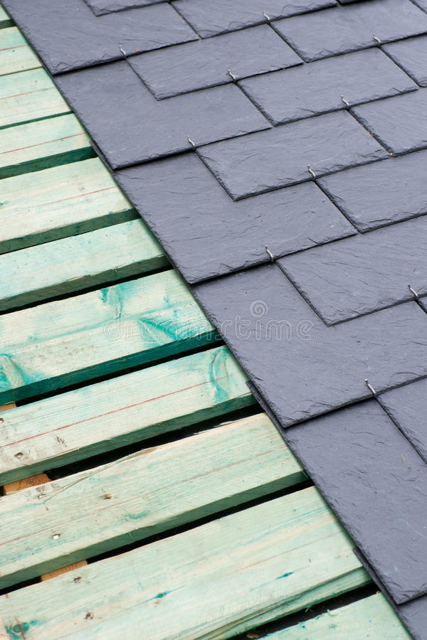 Slate roof stock images