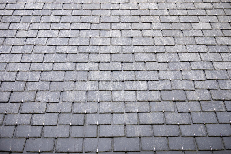 Slate roof tiles stock photos