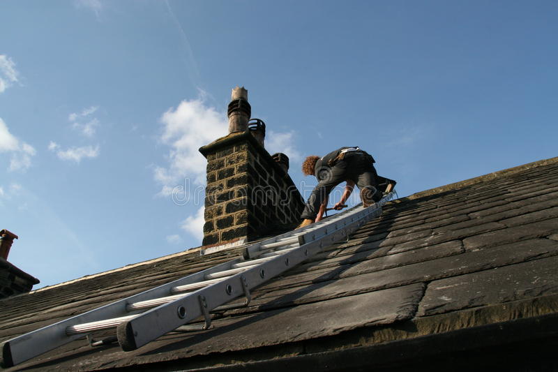 Slate roofing stock images