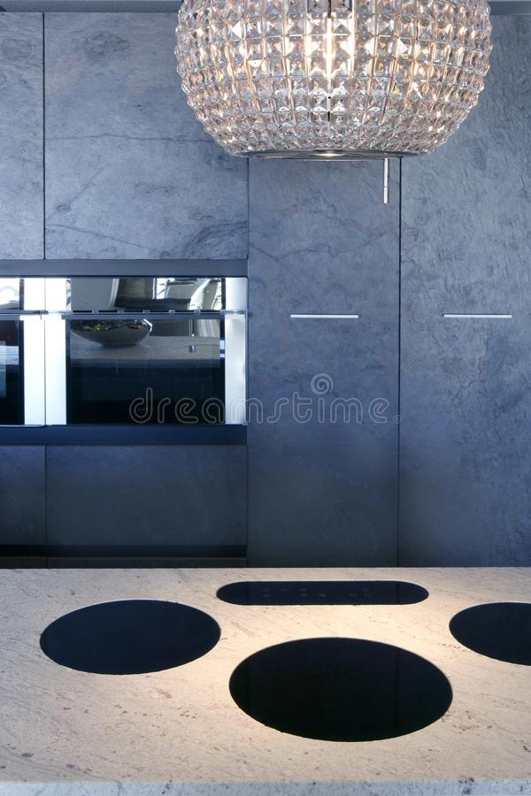 Slate stone kitchen forniture marble white bench royalty free stock image