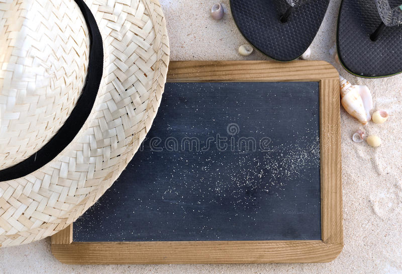 Slate for summer message royalty free stock images