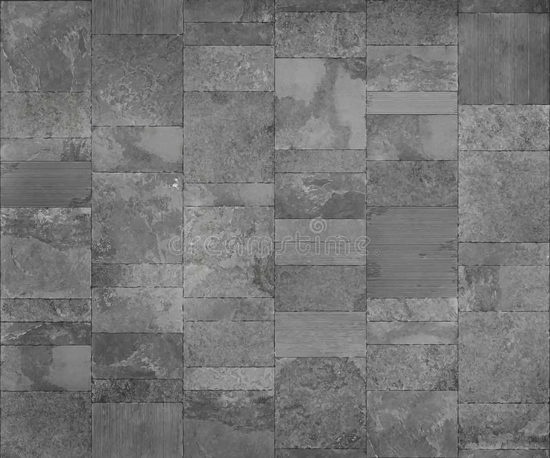 Slate tile ceramic, seamless texture light gray map for 3d graphic vector illustration