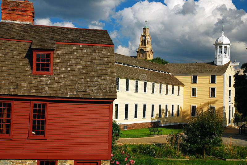 Slater Mills. The Historic Slater Mills, Where American Industialization was Born, in Pawtucket, Rhode Island stock photography