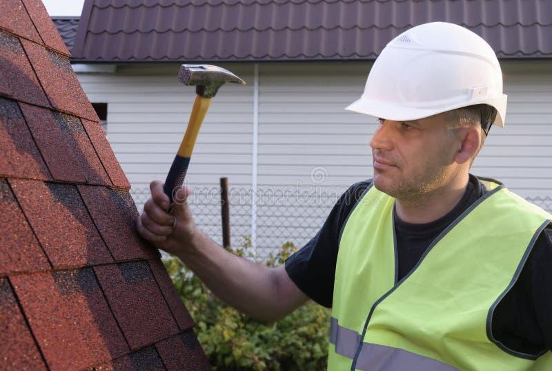 Slater, Roofing work stock image