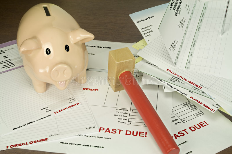 Download Slaughter The Pig! stock photo. Image of invoices, bank - 8569712