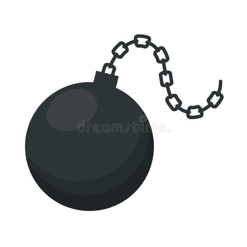 Slav- boll isolerad symbol royaltyfri illustrationer