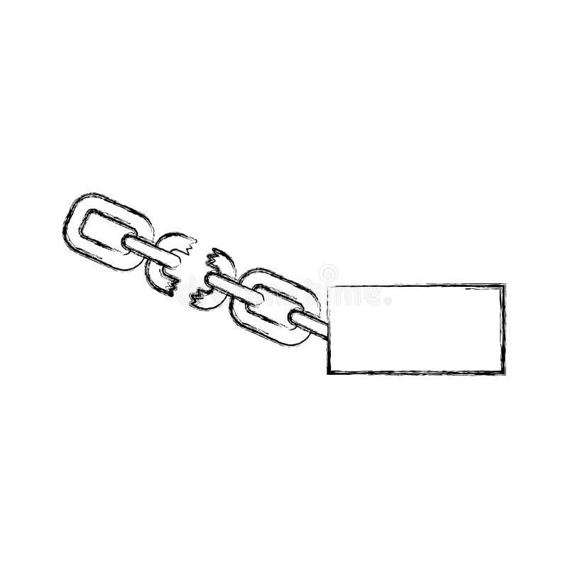 Slav- kedja isolerad symbol royaltyfri illustrationer